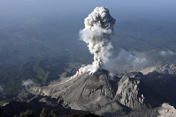 No People Photograph - Santiaguito Ash Eruption, Guatemala by Martin Rietze