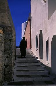 Santorini Photograph - Santorini Priest by Susan Peirce