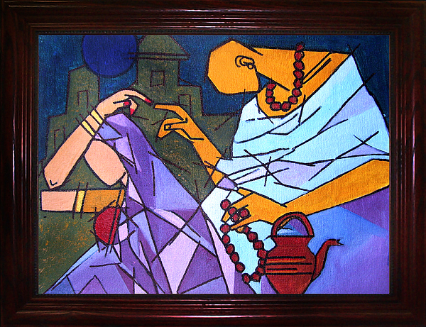 Artists Painting - Sanyasi-ii by Shikha A Pandey