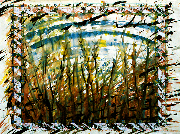 Abstract Painting - Saplings by Tom Hefko