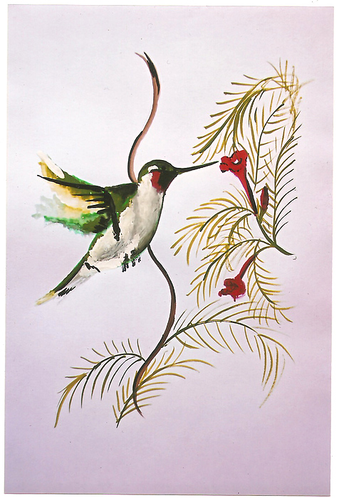 Sara Birds -1  Painting by Sarika  Patki