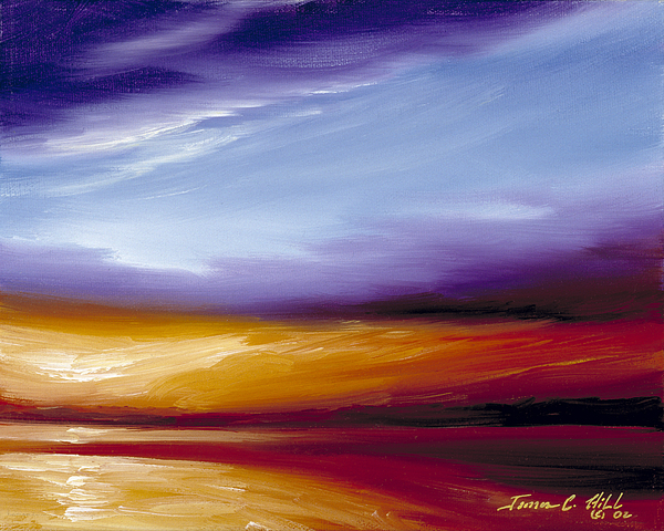 Skyscape Painting - Sarasota Bay II by James Christopher Hill