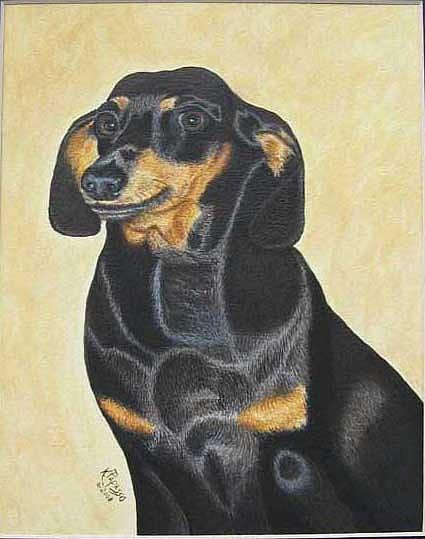 Dog Painting - Sasha by Kathie Papasso