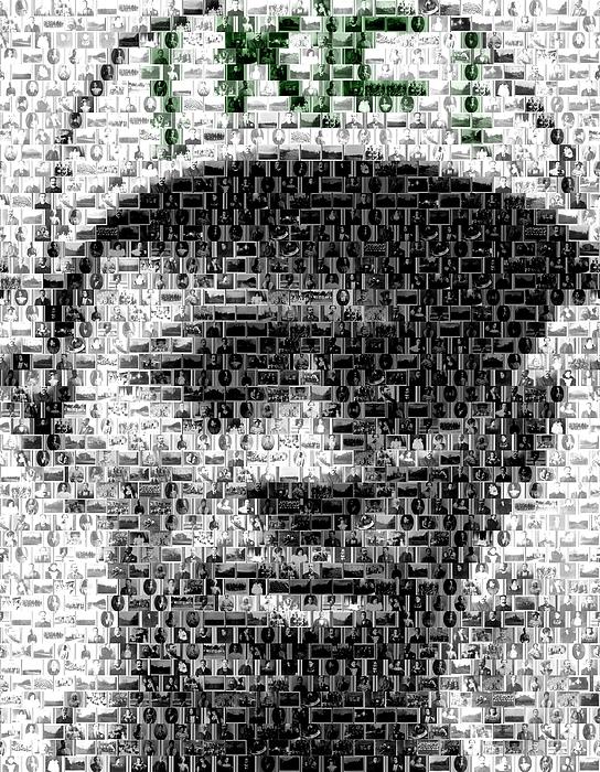 Negro Leagues Mixed Media - Satchel Paige Kc Monarchs African American Mosaic by Paul Van Scott