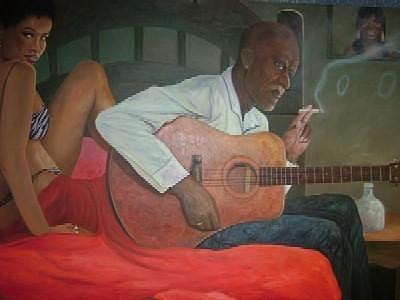 Mississippi Delta Blues Painting - Satin Sheets by Jerrie Glasper