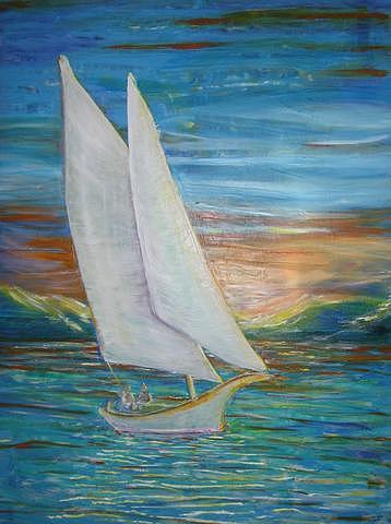 Sailboat Painting - Saturday Sail by Regina Walsh