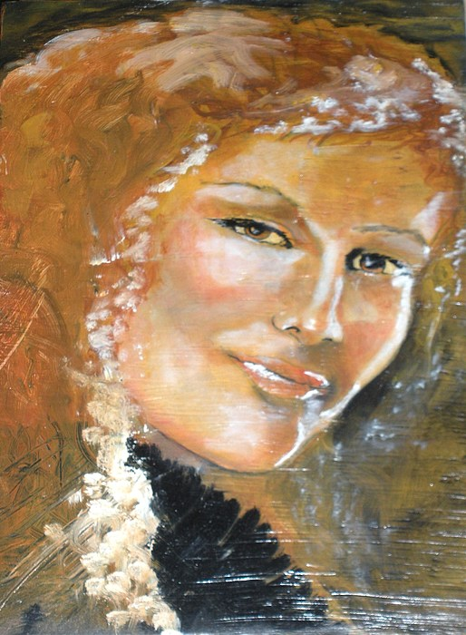 Angels Painting - Savannah Smiles Again Finished by J Bauer