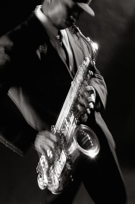 Sax Photograph - Sax Man 1 by Tony Cordoza