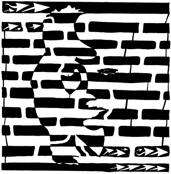 Saxophone Drawing - Saxophone Player Or Woman Maze by Yonatan Frimer Maze Artist