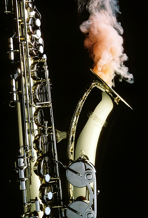 Sax Photograph - Saxophone With Smoke by Garry Gay