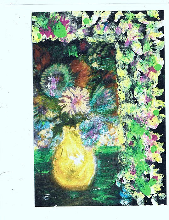 Flowers Painting - Say It With Flowers And Leaves by Anne-Elizabeth Whiteway