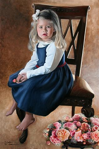 Custom Portrait Painting - Sc Anderson Painting Example S by Shirley Catherine Anderson