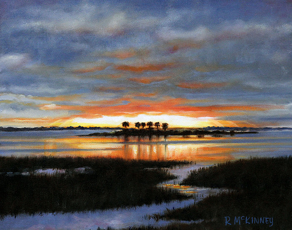 Sunset Painting - Scallop Country by Rick McKinney