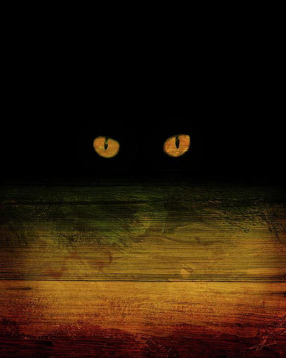 Cat Mixed Media - Scare-d-cat by Shevon Johnson