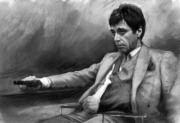 Al Pacino Pastel - Scarface 2 by Ylli Haruni