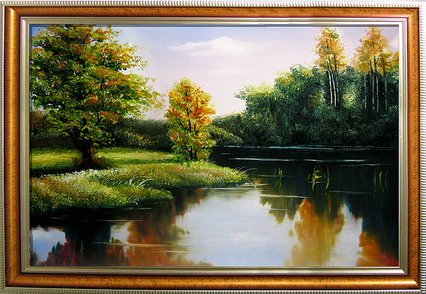 Landscape Painting - Scene Of Fall by Baoling Peng
