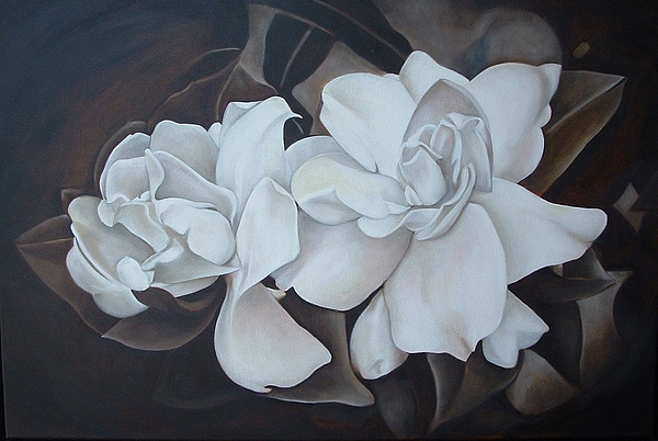 Flowers Painting - Scent Of Gardenias by Daniela Easter