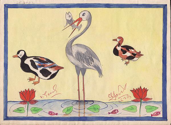 Scenery Painting - School 1963 - 103 by Mohd Raza-ul Karim