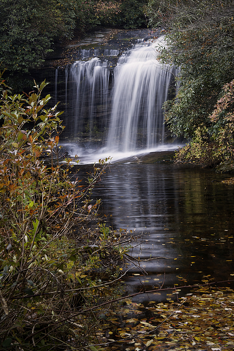 Autumn Photograph - Schoolhouse Falls by Rob Travis