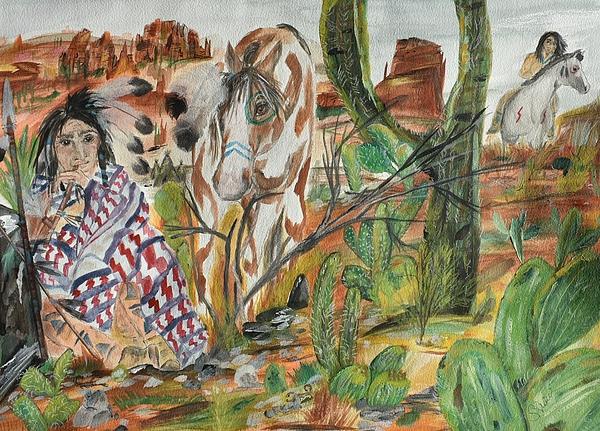 Scorpians Painting - Scorpian Ridge by Susan Snow Voidets