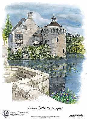 Scotney Castle Painting - Scotney Castle England by Kimberley Reid
