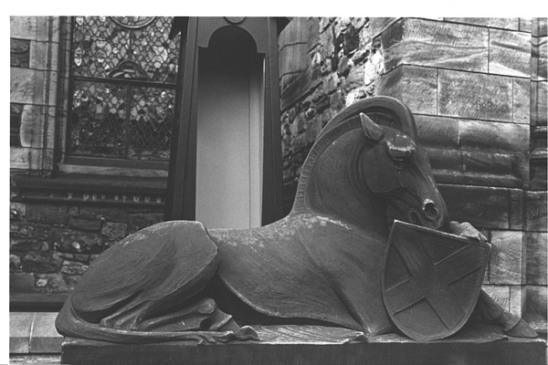 Scotland Photograph - Scots Chapel Horse by Steven  Godfrey