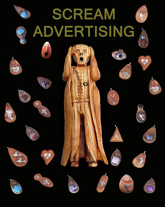 Fashion Jewellery Mixed Media - Scream Advertising by Eric Kempson