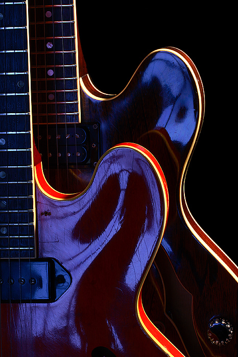 Guitar Photograph - Screaming Guitars by Art Ferrier