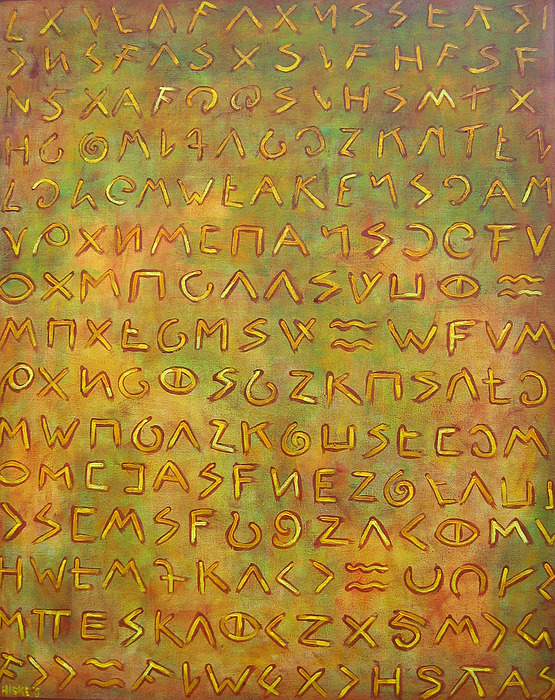 Symbolic Painting - Scripture by Hiske Tas Bain