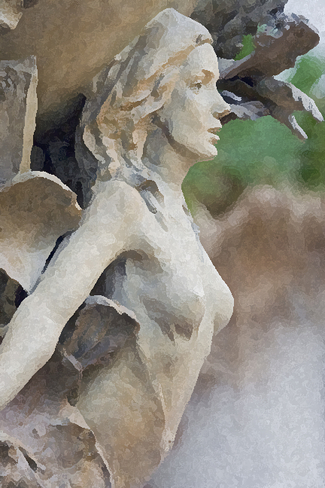 Vertical Digital Art - Sculpture Of Angelic Woman by Christopher Purcell