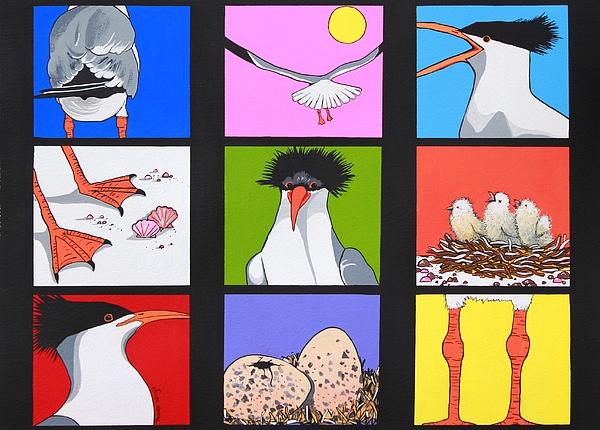 Sea Bird Painting - Sea Bird Kaleidoscope by Renata Wright