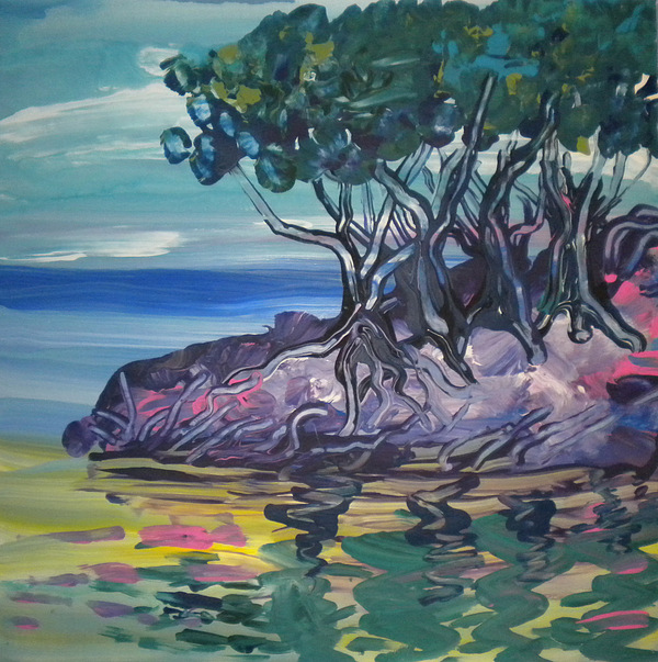 Alzheimer's Painting - Sea Grapes By Lois by Art Without Boundaries