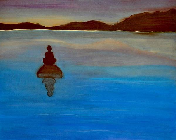 Landscape Painting - Sea Meditation by Aviva Moshkovich