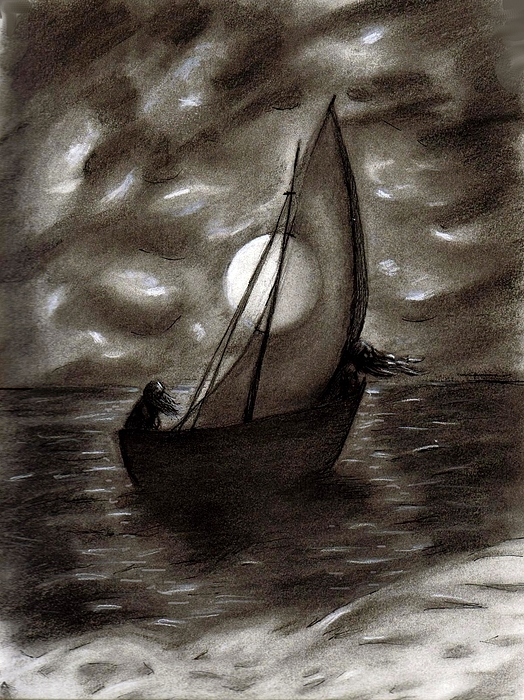 Sea Drawing - Sea Queen Of Connacht by C Nick