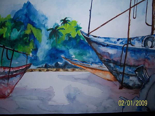 Sea Seen Painting by Shweta Gupta