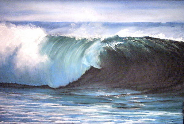 Sea Wave Painting by Dick Stolp