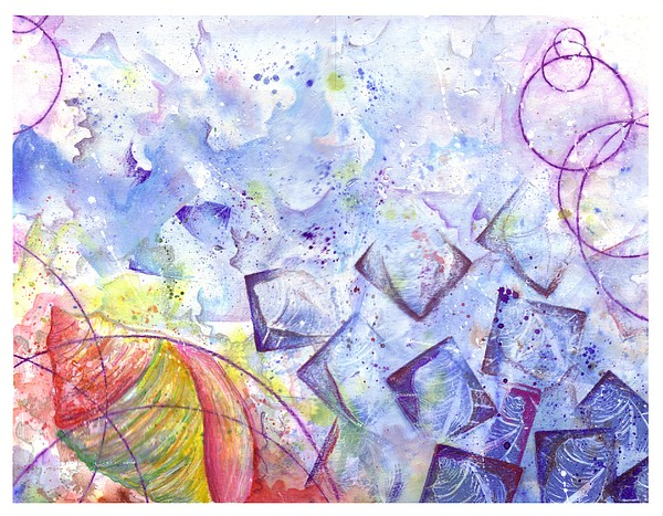 Seafoam Mixed Media by Riina Adamson