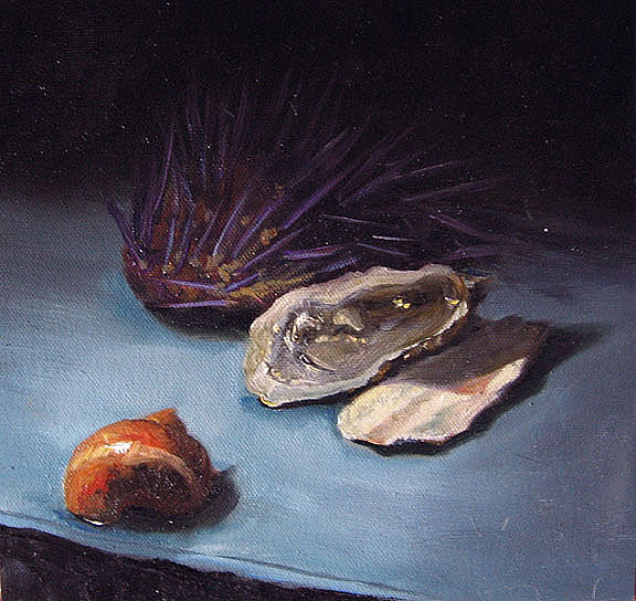 Still Life Painting - Seafood by Cary  Jurriaans