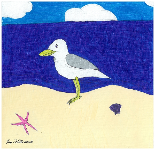 Seagull Painting - Seagull by Jayson Halberstadt