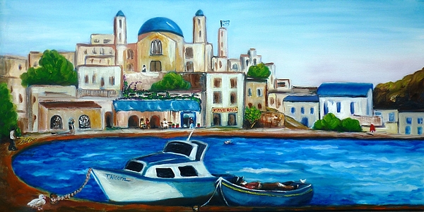 Fisher Painting - Searching For Santos by Therese Alcorn