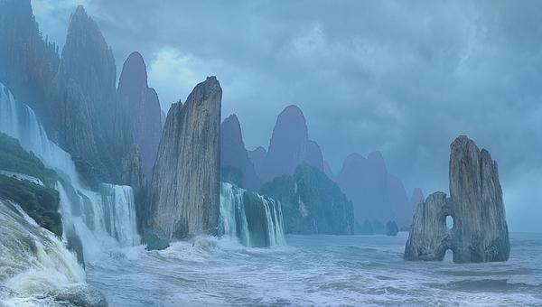 Digital Digital Art - Seashore 2 by Valeriy Mavlo