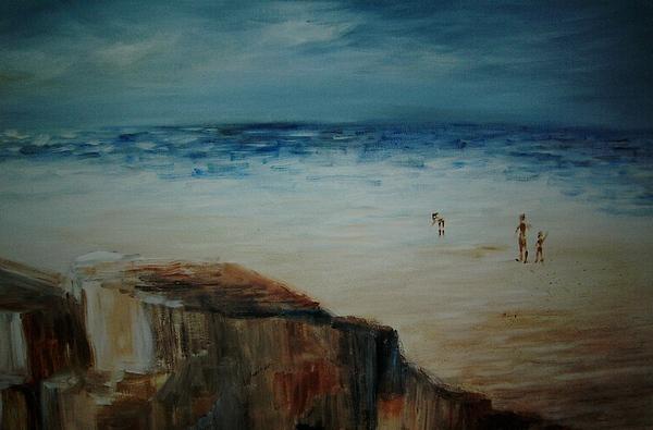 Water Painting - Seashore by Vivian  Mosley