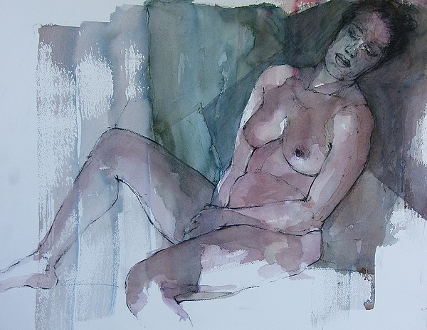 Nude Painting - Seated Nude by Patrick Dalli
