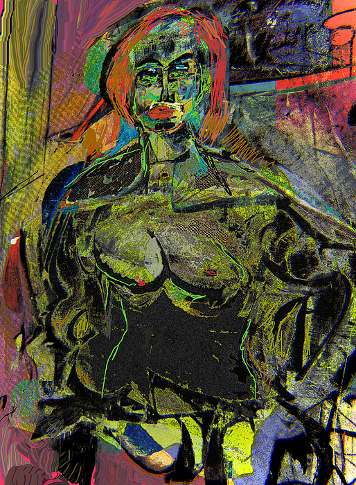 Nude Painting - Seated Woman by Noredin Morgan