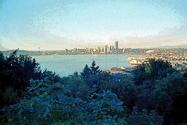 Seattle Photograph - Seattle Skyline 2 by Steve Ohlsen