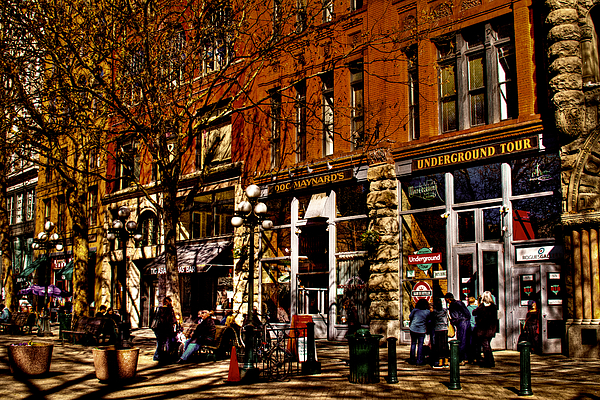 Pioneer Square Seattle Photograph - Seattles Underground Tour by David Patterson