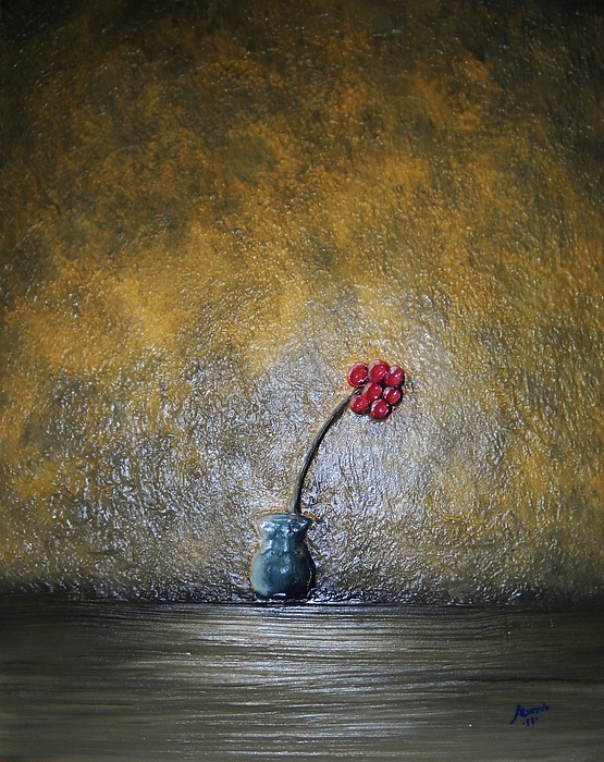 Flower Painting - Seclude  by Edwin Alverio