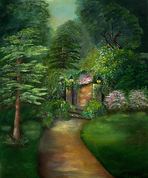 Secret Garden Painting by Shirley Lawing