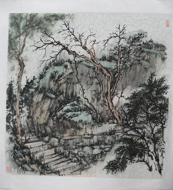 Landscape Painting - Secret  Massif    by Zhicheng Zang