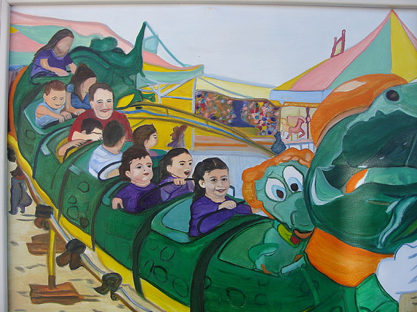 Roller Coaster Painting - See You Later Alligator by Diane Duran